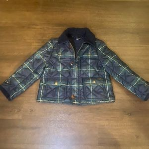 Polo Green/Blue Plaid Quilted Jacket - 4